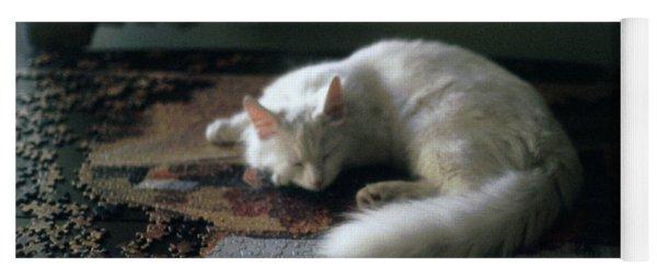 Cat On A Puzzle Yoga Mat