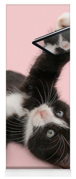 Cat Selfie Yoga Mat
