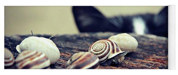 Cat Snails Yoga Mat