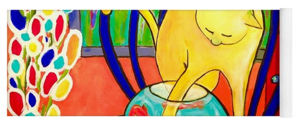 Cat - Tribute To Matisse Yoga Mat