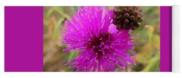 Catclaw Pink Mimosa  Yoga Mat