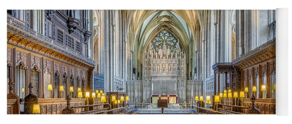 Yoga Mat featuring the photograph Cathedral Aisle by Adrian Evans