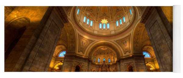 Cathedral Of St Paul Wide Interior St Paul Minnesota Yoga Mat