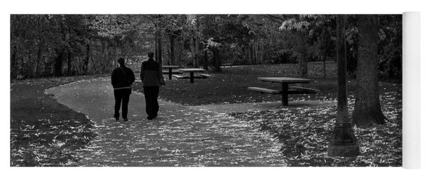 Cathedral Park In Fall Bw Yoga Mat