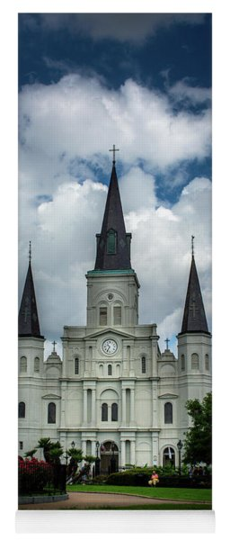 Cathedral With Clouds Yoga Mat