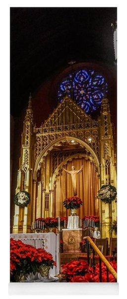 Catholic Christmas Yoga Mat