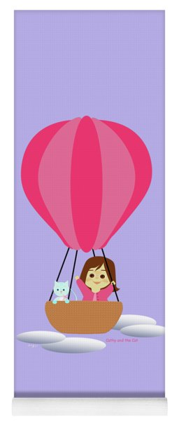 Cathy And The Cat - Hot Air Balloon Yoga Mat