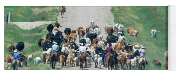 Cattle Drive Yoga Mat