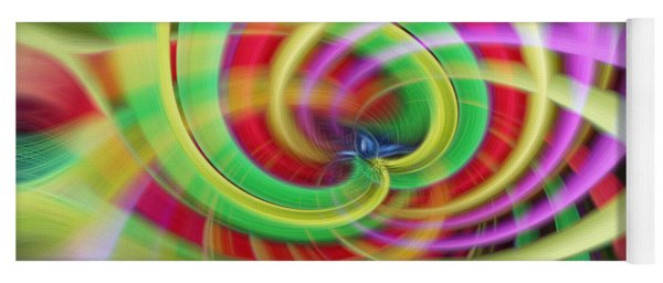 Caught Up In A Colorful Swirl Yoga Mat