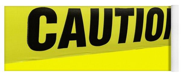 Caution Tape Yoga Mat