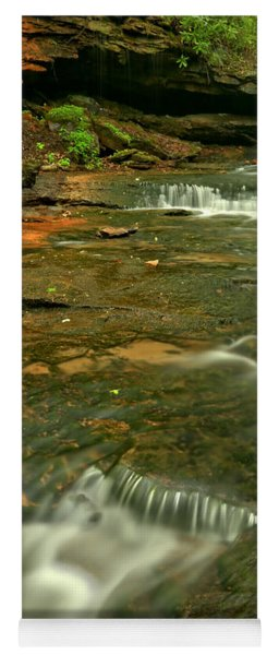 Cave Falls Portrait - Forbes State Forest Yoga Mat