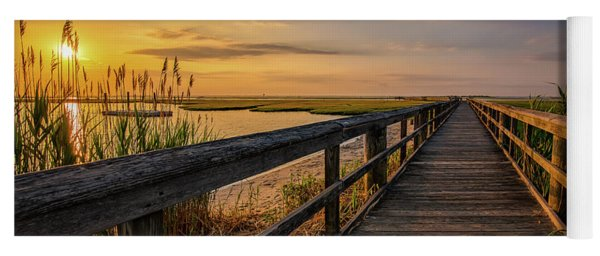 Cedar Beach Pier, Long Island New York Yoga Mat
