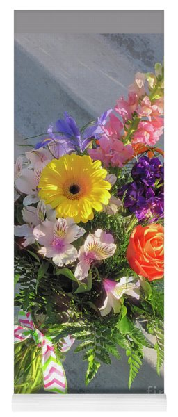 Yoga Mat featuring the photograph Celebrate With A Bright Bouquet by Nancy Lee Moran