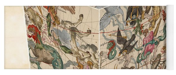 Celestial Map - Cubic Projection Of The Constellations 02 - Illustrated Map Of The Sky Yoga Mat