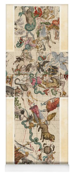 Celestial Map - Cubic Projection Of The Constellations - Illustrated Map Of The Sky Yoga Mat
