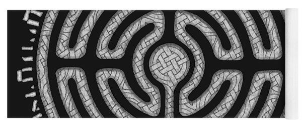 Celtic Labyrinth Mandala Yoga Mat