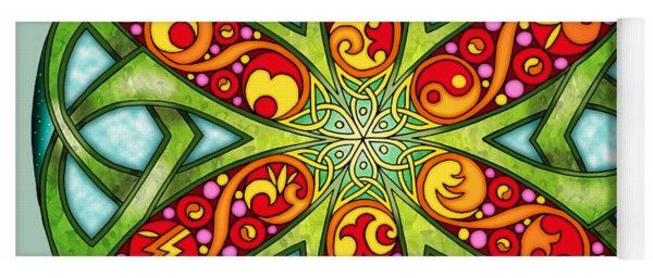 Celtic Summer Mandala Yoga Mat