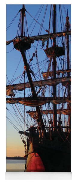 Celtic Tall Ship - El Galeon In Halifax Harbour At Sunrise Yoga Mat