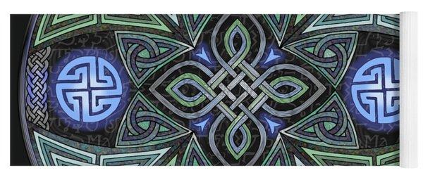 Celtic Ufo Mandala Yoga Mat
