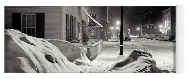 Center Of Town Woodstock  Vermont Medium Format Acetate Negative By Marion Post Wolcott March 1939 Yoga Mat