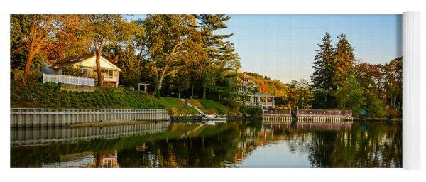 Centerport Harbor Autumn Colors Yoga Mat
