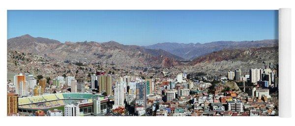Central La Paz Below Killi Killi Mirador Bolivia Yoga Mat