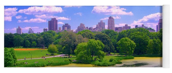 Central Park And Lake, Manhattan Ny Yoga Mat