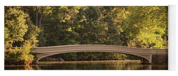 Yoga Mat featuring the photograph Central Park Bridge by Francisco Gomez