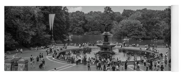 Central Park Fountain  Yoga Mat