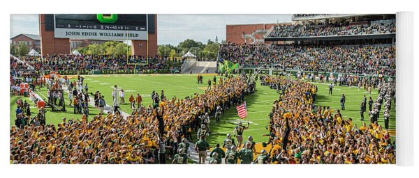 Ceremonial Running Of The Baylor Line Yoga Mat