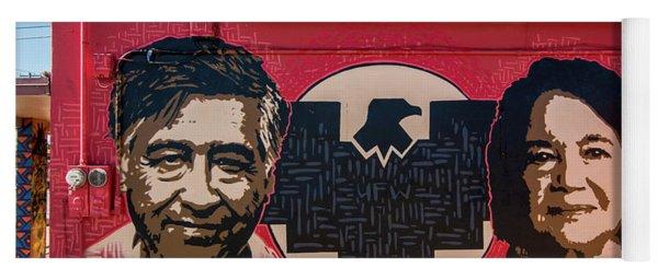 Cesar Chavez And Dolores Huerta Mural - Utah Yoga Mat
