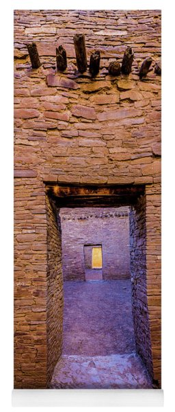 Chaco Canyon - Pueblo Bonito Doorways - New Mexico Yoga Mat