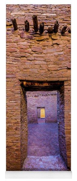Chaco Canyon - Pueblo Bonito Doorways - New Mexico Yoga Mat