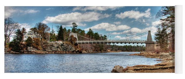Chain Bridge On The Merrimack Yoga Mat