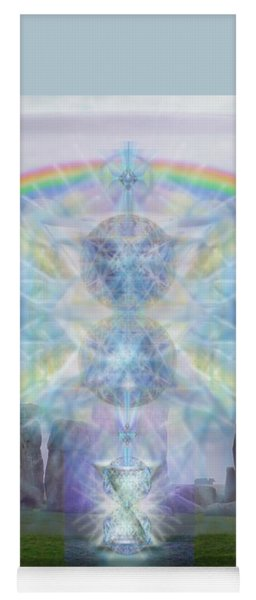 Chalice Over Stonehenge In Flower Of Life Yoga Mat