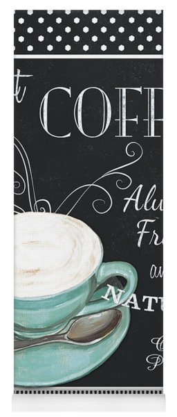 Chalkboard Retro Coffee Shop 1 Yoga Mat