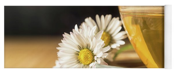 Yoga Mat featuring the photograph Chamomile by Traven Milovich