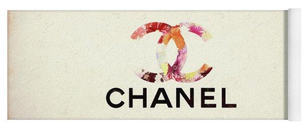 Chanel Floral Texture  Yoga Mat