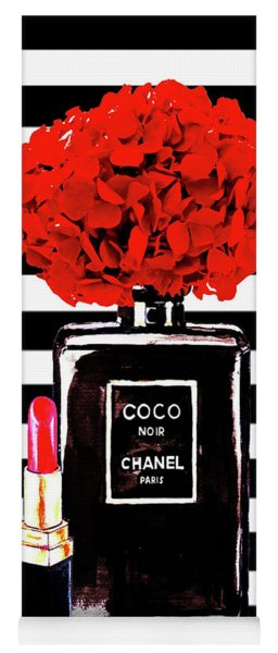 Chanel Poster Chanel Print Chanel Perfume Print Chanel With Red Hydragenia 3 Yoga Mat