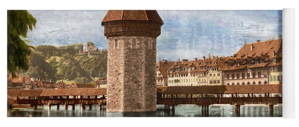 Chapel Bridge In Lucerne Yoga Mat