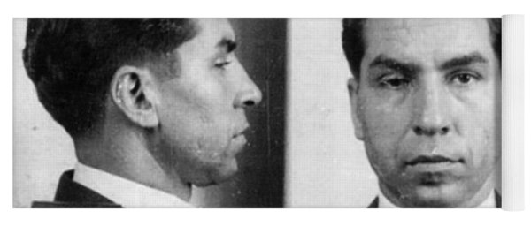 Charles Lucky Luciano Mug Shot 1931 Horizontal Yoga Mat