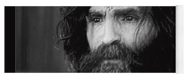 Charles Manson Screen Capture Circa 1970-2015 Yoga Mat