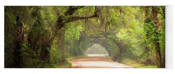 Charleston Sc Edisto Island Dirt Road - The Deep South Yoga Mat