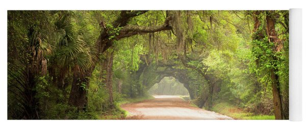 Charleston Sc Edisto Island Dirt Road - The Deep South Yoga Mat