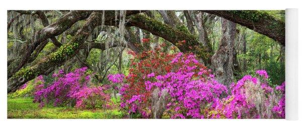 Charleston South Carolina Spring Flowers Lowcountry Landscape Photography Yoga Mat