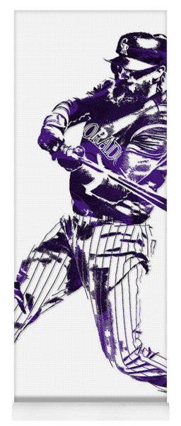 Charlie Blackmon Colorado Rockies Pixel Art 6 Yoga Mat