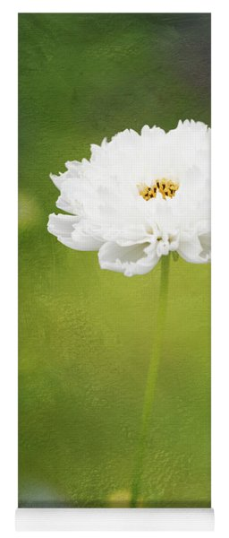 Charming White Cosmos Yoga Mat