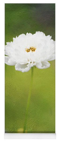 Charming White Cosmos Yoga Mat