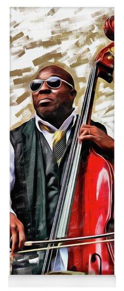 Charnett On Red Bass Yoga Mat