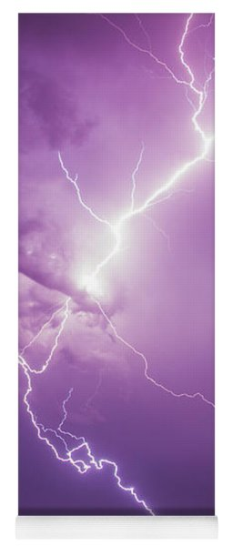 Yoga Mat featuring the photograph Chasing Nebraska Lightning 018 by NebraskaSC